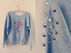 Studded floral cross