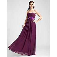 Light in the box - in ink blue or dark navy.  Don't normally go for sweetheart but love this.  Sheath/Column Sweetheart Floor-length Chiffon Bridesmaid Dress – USD $ 119.99