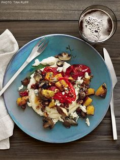Grits and Roasted Vegetables With Hazelnut Butter Recipe : Food Network Kitchen : Food Network - FoodNetwork.com