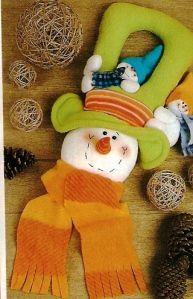 cuelga nieve sombrero verde 20 Christmas Is Coming, Felt Christmas, Christmas Projects, Christmas Holidays, Christmas Decorations, Christmas Ornaments, Holiday Decor, Felt Wreath, Snowman Crafts