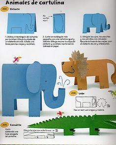 365 ma-nua-lidades pa pa-sarlo en grande - Manualidades Hr - Picasa Web A Preschool Crafts, Kids Crafts, Diy And Crafts, Paper Crafts, Cardboard Animals, Paper Animals, Animal Crafts For Kids, Diy For Kids, Toddler Activities