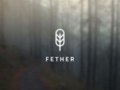 Fether Logo – Simple in Identity 2 Logo, Typography Logo, Logo Branding, Typography Design, Lettering, Gfx Design, Design Logo, Branding Design, Logo Inspiration