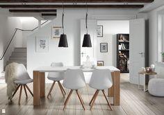 9design: Biel i drewno czyli połączenie doskonałe - zdjęcie od 9design - Jadalnia - Styl Skandynawski - 9design