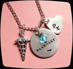 Pharmacy Pharmacist Jewelry RX necklace by ThatKindaGirl on Etsy, $21.00