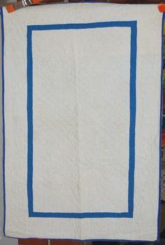 RARE 30's AMISH Plain Crib Antique Quilt ~Nice Quilting