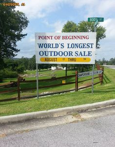 127 Yard Sale, World's Longest Yard Sale southernmost point - Gadsden, AL.went on it countless times.love the scenic drive through Ft. 127 Yard Sale, Road Trip Usa, Usa Roadtrip, Architectural Salvage, Vacation Spots, Vacation Ideas, Fleas, Travel Usa, Trip Planning