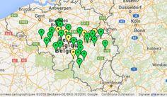Carte des initiatives de transition en Wallonie et à Bruxelles