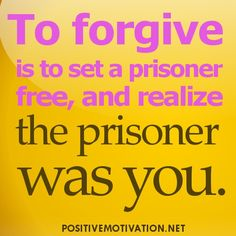 Forgiveness does not change the past. It shapes your future.