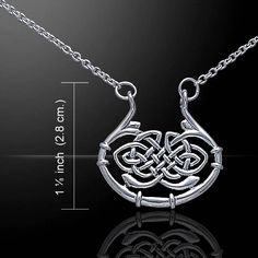 Peter Stone Celtic Knotwork Silver Necklace TN002