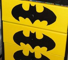 JULIE!!!!!! Batman Theme Boys room. $100.00, via Etsy.