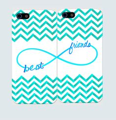 Best Friends Infinity Case- Best Friends Iphone Case-Personalized iPhone 5 Case. iPhone 4 Case - Two Case Set. $25.99, via Etsy.