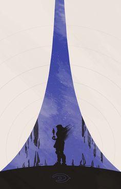 Halo Minimalist Poster - Created by Colin Morella