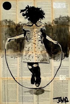 "Saatchi Online Artist: Loui Jover; Pen and Ink, Drawing ""childhood and dreams"""
