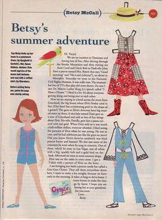 Betsy's summer adventure....August 1993