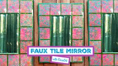 Brighten up your home with a stunning, dimensional tiled mirror with Tiled Mirror, Mirrors, Home Decor Items, Diy Paper, Diy Projects, Texture, Inspiration, Design, Surface Finish