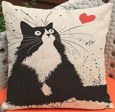 Cat Pillow Kitten Pillow Pillow Case Cat Cat Picture