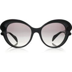 Prada Butterfly-frame acetate sunglasses