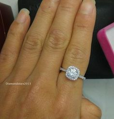 Other Fine Rings Professional Sale 2.5 Ct Majestic Oval Halo Ring Top Cz Imitation Moissanite Simulant Ss Size 7 Bright And Translucent In Appearance