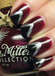 "Legally Nailed: Megan Miller Framboise ""Chevron"" Nails"