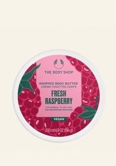 Get a burst of summer with our limited edition Fresh Raspberry Whipped Body Butter, an intensely nourishing moisturizer with a lightweight whipped texture. Raspberry Whip, Raspberry Seed Oil, Whipped Body Butter, Shea Butter, The Body Shop Uk, Exfoliating Soap, Moisturiser, Body Lotion, Dry Skin