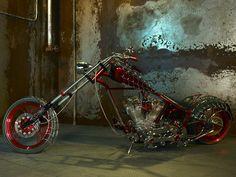 Awesome Spiderman Custom Chopper by Orange County