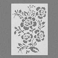 Efco, pochoir en plastique avec motif de rose sauvage, transparent, A5