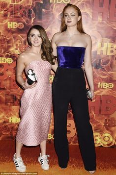 Sisters: Maisie Williams, 20, has revealed she will be a bridesmaid when her best friend S...