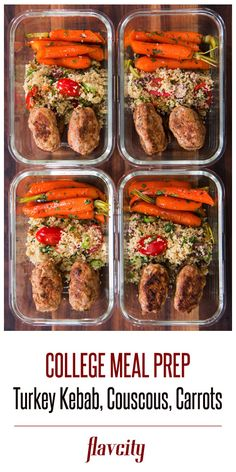 Turkey Kebab Meal Prep by FlavCity