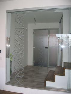 Celoskleněné posuvné dveře, realizace v Brně Oversized Mirror, Furniture, Home Decor, Decoration Home, Room Decor, Home Furnishings, Home Interior Design, Home Decoration, Interior Design