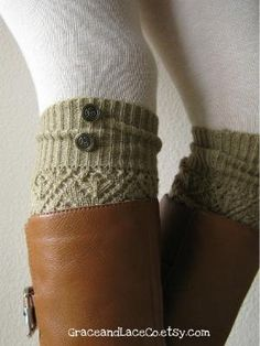 button leg warmer