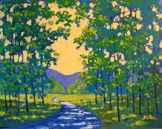 Spring Path Painting at ArtistRising.com