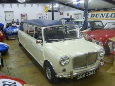 1963 stretched Mini limousine wedding car Ivory Paint, Limousine, Wedding Car, Mini