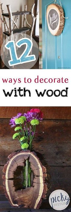 Decorating With Wood, How to Decorate With Wood, Home Decor Ideas, Easy Home Decor Hacks, DIY Home Decor, Wood Decorations for the Home, Quick Decorations for the Home, popular