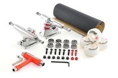 Venom skateboard #setup kit raw #trucks/wheels/abec 11/grip/bolts/free #tool!,  View more on the LINK: 	http://www.zeppy.io/product/gb/2/361710332849/