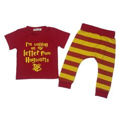 Harry Potter Newborn Baby Boys Short Sleeve T Shirt+Striped Harem Pants Outfits #Unbranded #Casual