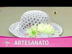 Como Fazer : Chapéu de Praia c/ Crochê Endurecido - Passo a Passo Fácil - YouTube