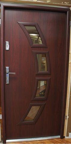 Steel modern exterior door with glass modern home luxury modern front entrance doors modern house front Modern Wooden Doors, Contemporary Front Doors, Modern Front Door, Main Door Design, Wooden Door Design, Front Door Design, Modern Exterior Doors, Exterior Doors With Glass, Front Door Entrance