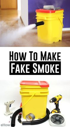 DIY fog machine/fake smoke machine tutorial! Use it for a Halloween party or haunted house, or a backyard wedding during the couples first dance! Once you make this, you can reuse it year after year! Full DIY on site.
