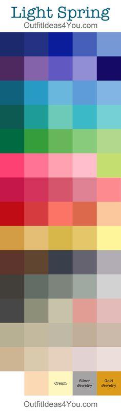 Light Spring Color Palette @outfitideas4u