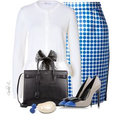 """""""Polka Dots and Bows"""" by carolinez1 on Polyvore"""