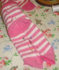 how to sew a sock zebra