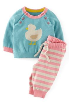 Mini Boden Knit Sweater & Pants (Baby Girls) available at #Nordstrom