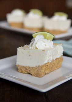 Recipe Frozen Key Lime and Margarita Cheesecake by Lisa Matchan, learn to make this recipe easily in your kitchen machine and discover other Thermomix recipes in Desserts & sweets. Key Lime Desserts, Frozen Desserts, Summer Desserts, Frozen Treats, No Bake Desserts, Dessert Recipes, No Bake Treats, Yummy Treats, Delicious Desserts