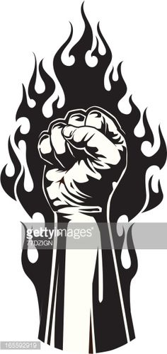 Vector Art and Design by http://keithhoffart.weebly.com - Vector Art : tight flame fist