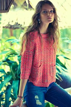 Marled Swing Sweater #anthropologie #anthrofave