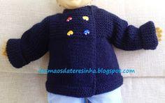 Das Mãos da Teresinha: Casaco de tricô para bebé tam. 6 meses          (c...