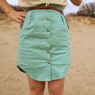 this skirt was made out of a men's dress shirt, well its super cute