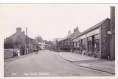RP HEACHAM HIGH STREET SCENE STAINSBY BICYCLE SHOP REAL PHOTO NORFOLK 1954 | eBay