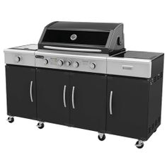 Exactly the same body as the Specialist 4 Burner BBQ.  Approved for Natural Gas.    Space Saving roll back hood.    Available as either 4 Bnr or 6 Bnr model.  4 Burner = $599  6 Burner = $799  Nat Gas Kit = $89.00