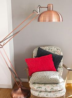 Blue giant george carwardine style angle floor lamp in royal blue brushed copper angled floor lamp aloadofball Gallery